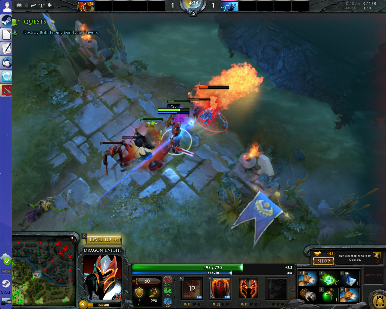 blowing up bits wading into the fray with dota 2